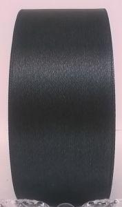 `Лента атласная, ширина 40 мм, цвет темно-серый