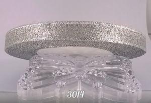 `Лента, парча, ширина 12 мм, цвет 3014 (серебро)