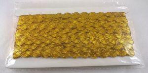 `Тесьма вьюнчик, ширина 5 мм, цвет: золото