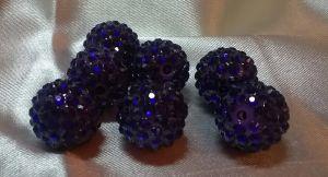 "`Бусины ""Шамбала"", пластик, диаметр 18 мм, цвет фиолетовый"