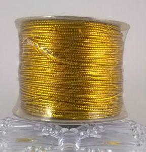 `Шнур декоративный, диаметр 1.5 мм, цвет золото