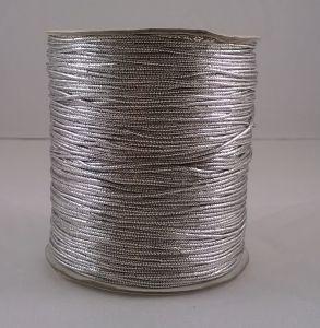`Шнур декоративный, диаметр 1 мм, цвет серебро