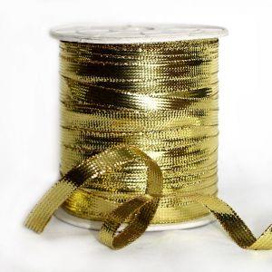 `Шнур плоский, ширина 4 мм, цвет золото