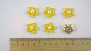 `Кабошон со стразой, диаметр 20 мм, цвет основы золото, Арт. 394486744