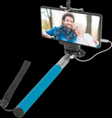 Штатив для селфи Selfie Master SM-02 голубой, проводной, 20-98 см