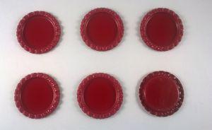 `Крышка, металл, внутренний диаметр 25 мм, наружный 31 мм, цвет №45 бордо