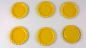 `Крышка, металл, внутренний диаметр 25 мм, наружный 31 мм, цвет №37 желтый