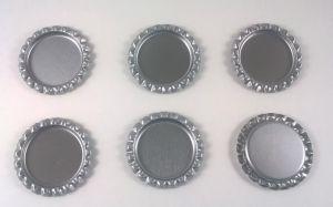`Крышка, металл, внутренний диаметр 25 мм, наружный 31 мм, цвет №43 темное серебро