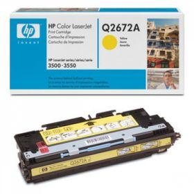 HP Q2672A Картридж Оригинальный , Yellow LJ3500, Yellow, (4000стр.)