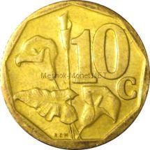 ЮАР 10 центов 2008 г.