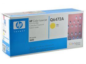 HP Q6472A Картридж оригинальный Yellow (4000стр.)