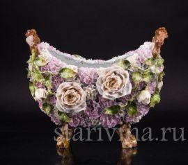 Розы и гвоздики, ваза, Дрезден, Германия, нач. 20 в