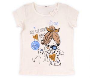 Светлая футболка от Крокид