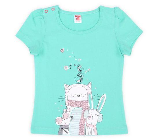 Хлопковая футболка для девочки Очаровашки