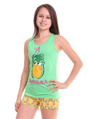 Легкий комплект для девочки подростка на лето