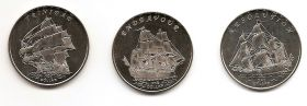 Знаменитые Парусники Набор монет 1 доллар Острова Гилберта 2014 (1 серия монет)
