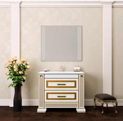 Комплект  мебели OPADIRIS ОНИКС 100 цвет белый с серебряной патиной или белый с золотой патиной
