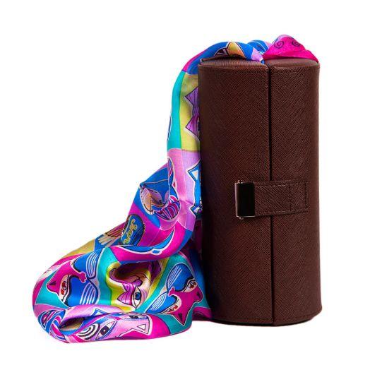 Набор подарочный для женщин Diplomat, Шкатулка для очков и шарф, Y6538-01005 Brown-СН