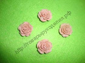 "кабошон ""Роза""  цвет пенка 20мм"