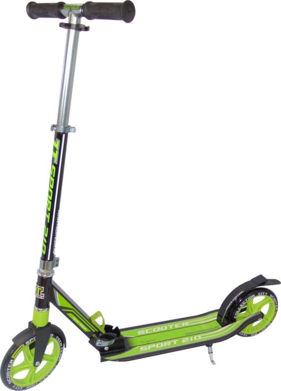 Tech Team 210 Sport 1/4 зелёный самокат