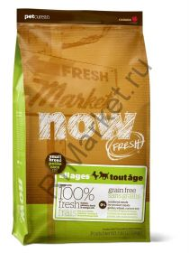 NOW Natural holistic беззерновой для взрослых собак малых пород со свежим ягненком и овощами, Fresh Small Breed Recipe Red Meat Grain Free 27/17