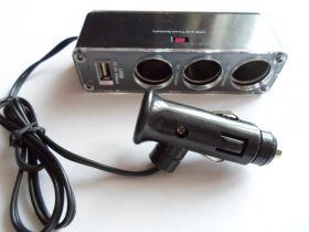 Тройник для прикуривателя с USB.