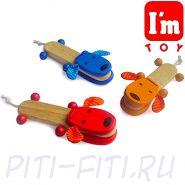 """I'm toy. Игрушка деревянная """"Собачка"""", в ассортименте"""