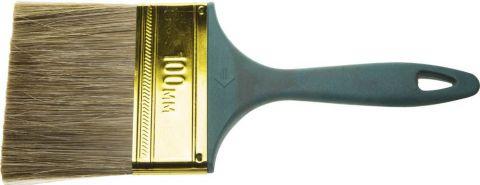 """Кисть ЗУБР """"КП-14"""" плоская, смешанная щетина, пластмассовая рукоятка, 100мм"""