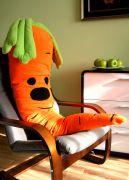 огромная подушка морковка