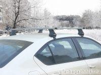 Багажник на крышу Skoda Octavia A7, Атлант, прямоугольные дуги, опора Е