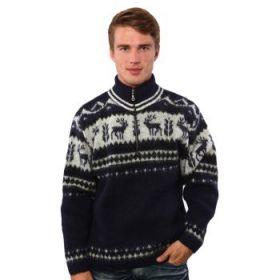 Джемпер мужской вязаный из Исландской шерсти 01419-73