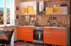 Кухонный гарнитур с фотопечатью «Апельсин» 2,0 м