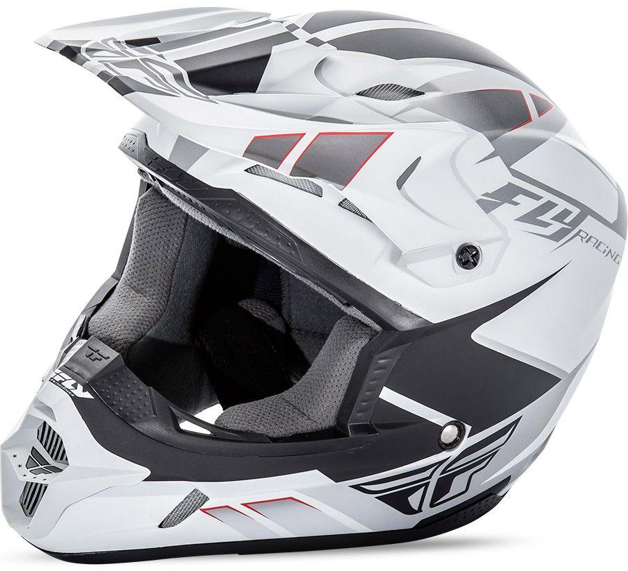 Fly - Kinetic Impulse шлем, матовый бело-черный