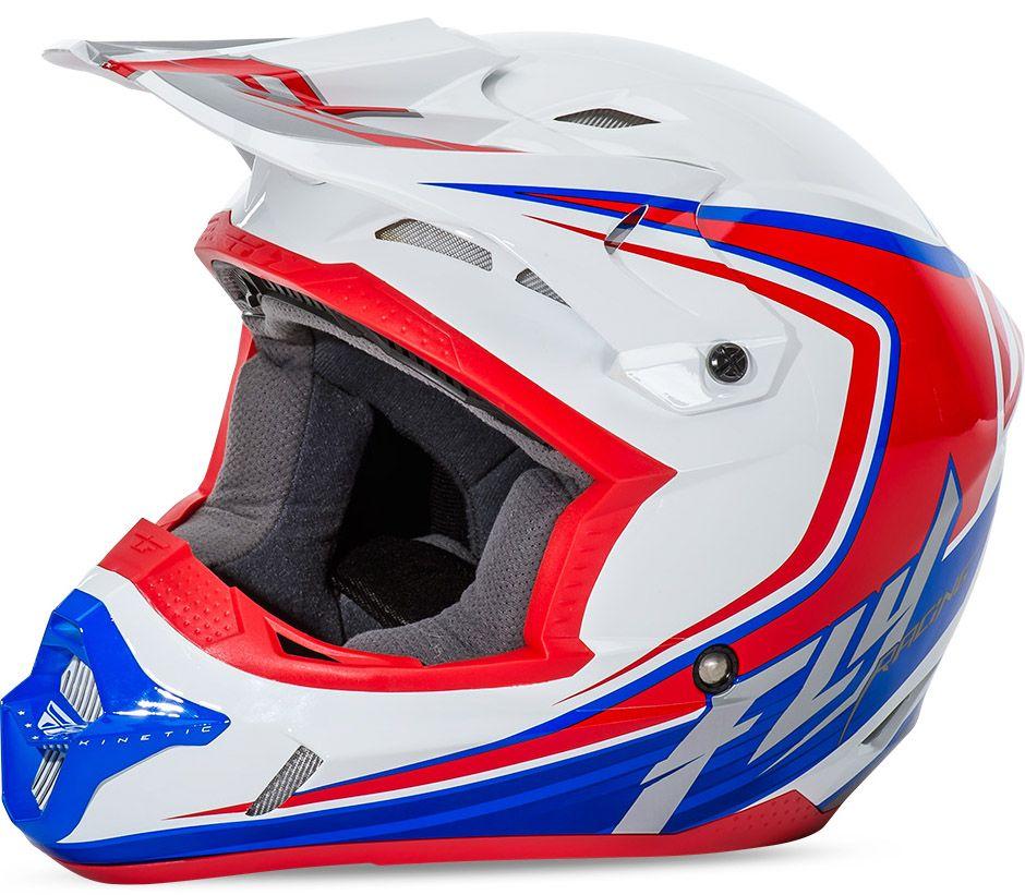 Fly - Kinetic Fullspeed шлем, бело-красно-синий