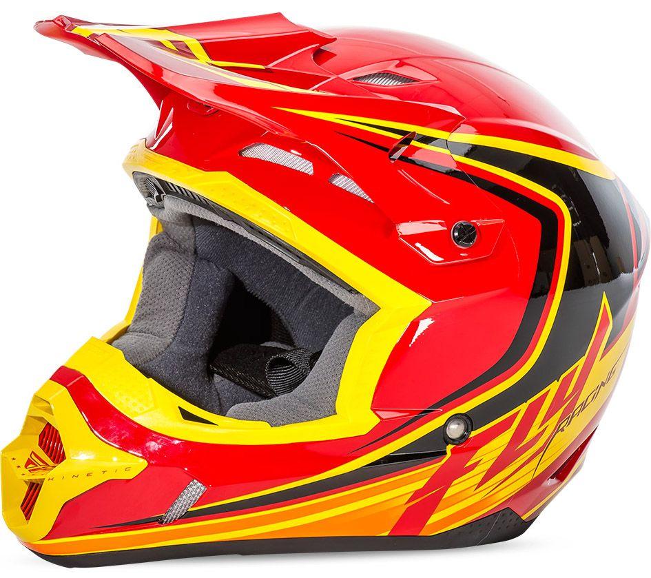 Fly - Kinetic Fullspeed шлем, красно-черно-желтый