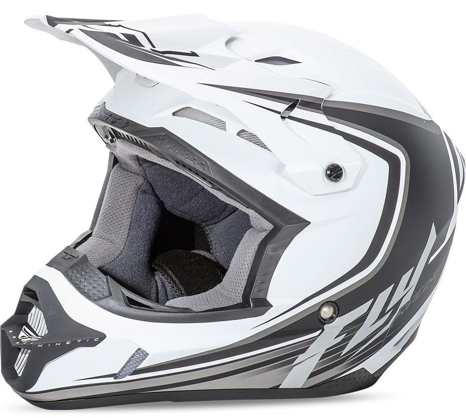 Fly - Kinetic Fullspeed шлем, матовый бело-черный