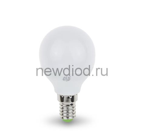 Лампа светодиодная LED-ШАР-standard 5Вт 160-260В Е14 4000К 450Лм ASD