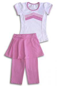 детский комплект для девочки штанишки-юбка и блузка