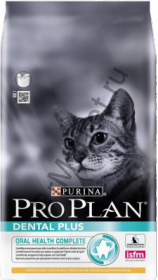 "PRO PLAN Dental Plus Cat - сухой корм для взрослых кошек ""Уход за полостью рта"" (курица)"