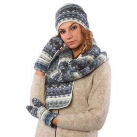 Комплект шапка, шарф, варежки 08114-08