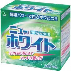 Японский стиральный порошок с отбеливателем и ферментами для удаления стойких загрязнений Mitsuei New White 900г.