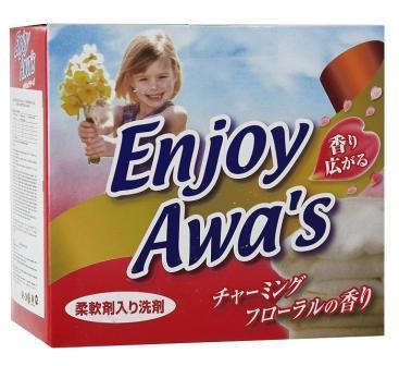 303257 Порошок стиральный с кондиционером Enjoy Awa's - аромат цветов, 900 г