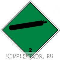 Класс 2.2 Невоспламеняющиеся, Нетоксичные газы (наклейка) 300x300 мм