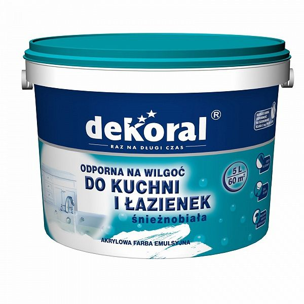 Краска для кухонь и ванн Dekoral Maleinak Plus