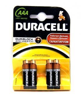 Батарейка алкалиновая DURACELL LR03 BL4 (4x20=80) ALKALINE ААА