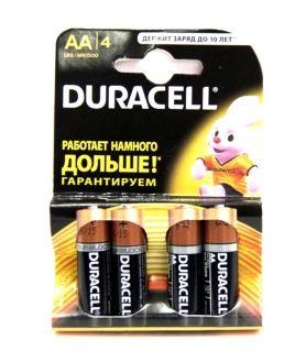 Батарейка алкалиновая DURACELL LR06 BL4 (4x20=80) ALKALINE AA