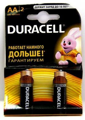 Батарейка алкалиновая DURACELL LR06 BL2 (2x20=40) ALKALINE (АА)