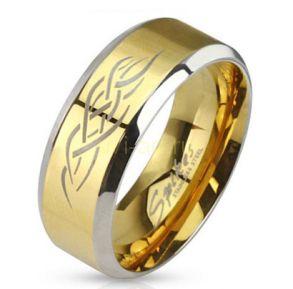 """Позолоченное кольцо Spikes """"Сила дракона"""" (арт. 280117)"""