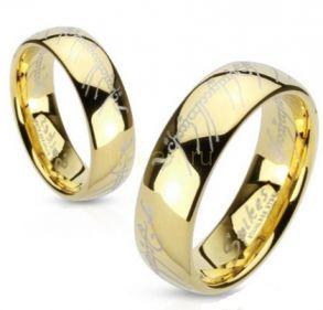 Позолоченное кольцо всевластия (Властелин колец) Spikes (арт. 280119)