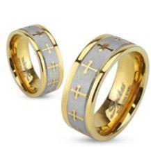 Стильное позолоченное кольцо Spikes с орнаментом (арт. 280123)
